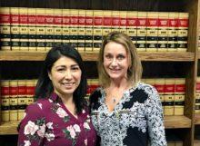 Monique Davalos Office Manager & Katherine Carroll, NHF Executive Director