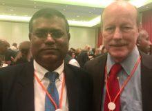 Nepal Delegate Sanjeev Karn & NHF President Scott Tips &