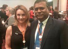 Katherine Carroll, NHF Executive Director & Nepal Delegate Sanjeev Karn