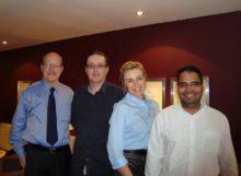 Scott Tips, James Harkin, Emma Currie & Syed of NHF-UK London England